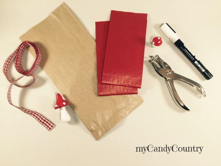 Buste regalo fai da te con i sacchetti del pane carta e cartone