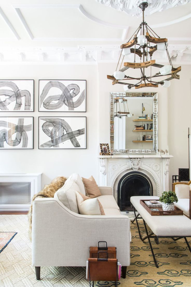 Home Tour : A Brooklyn Brownstone | Glam living room, Living rooms ...