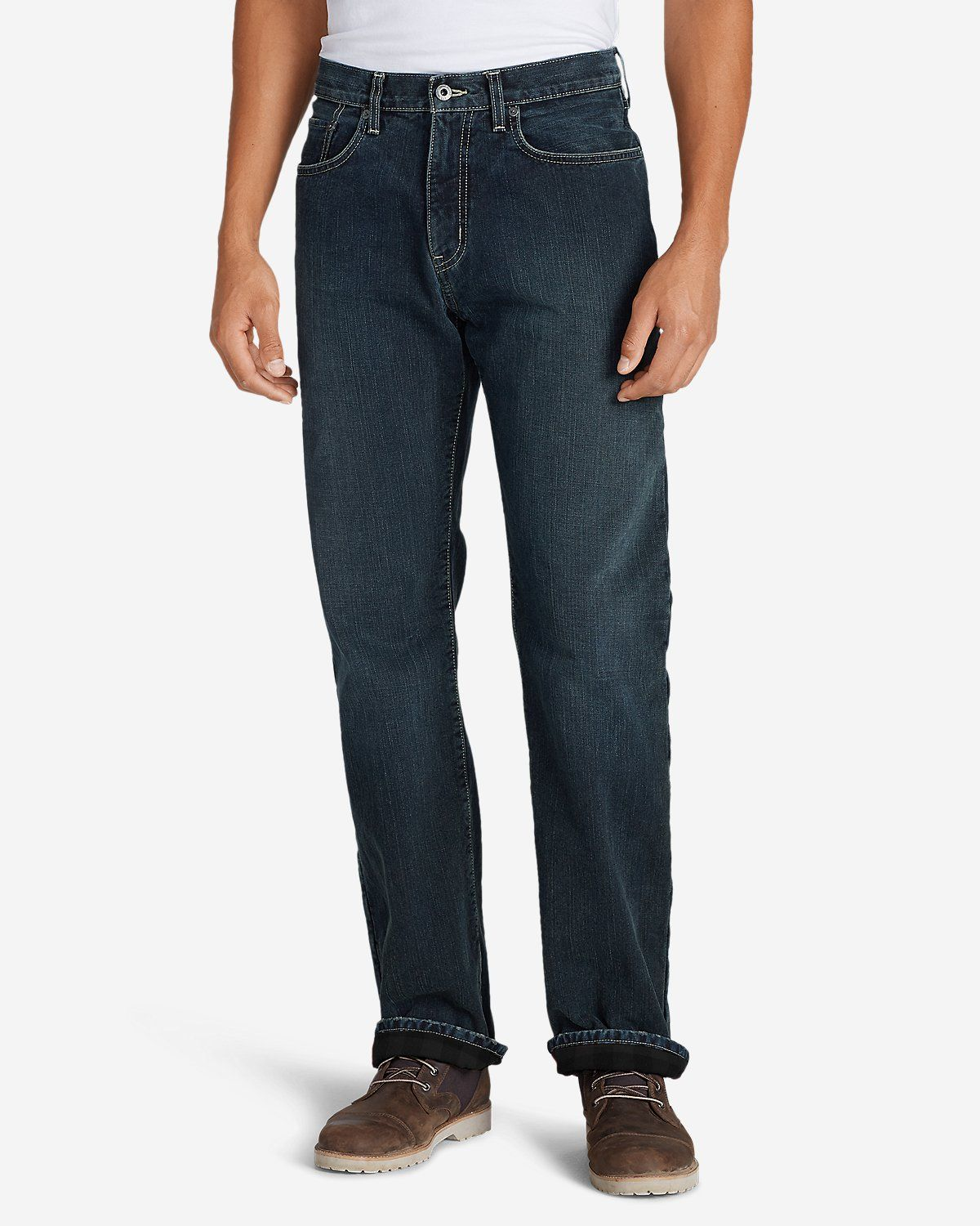 Men's Fleecelined Jeans Straight Fit Eddie Bauer