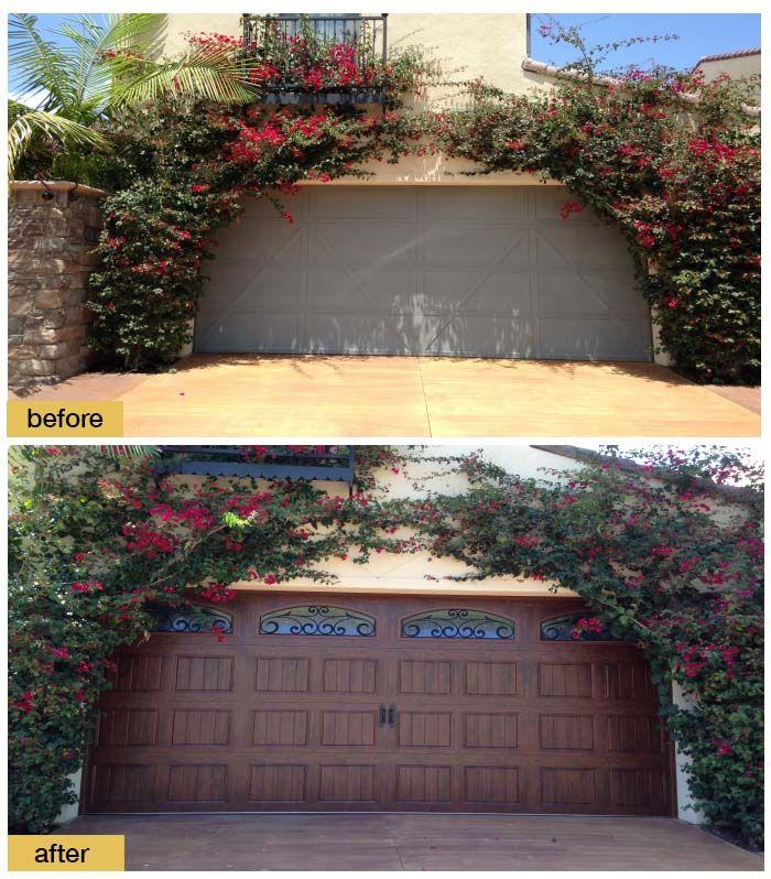 Mediterranean Garage Door Makeover
