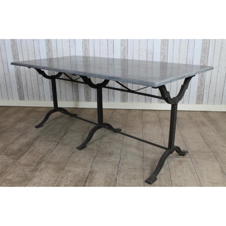 Arhaus Stone & Iron Buchon Dining Table Dining Room