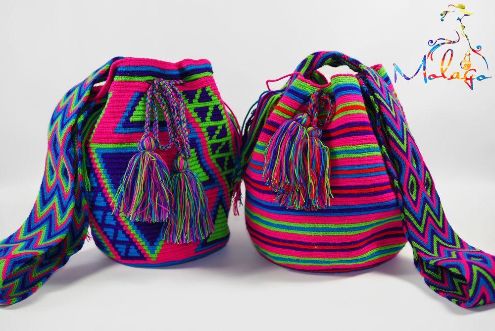 Farben zum verlieben   Colores que enamoran  www.molago.de #molago #mochila #bag #Wayuu #handmade