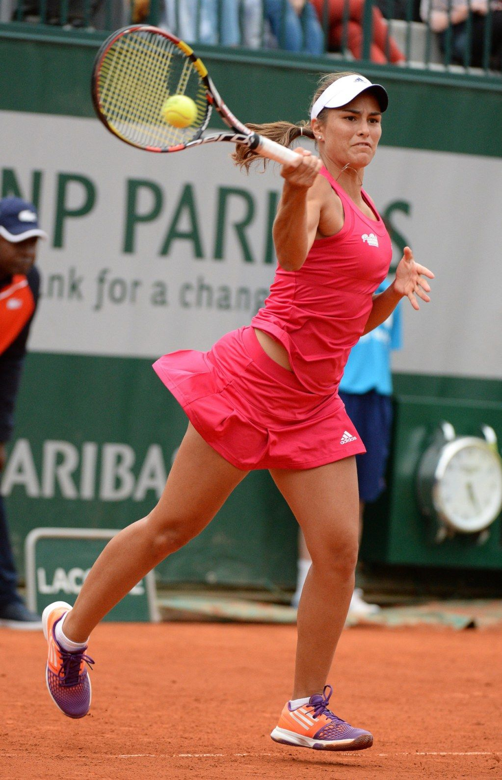 5/27/14 Monica Puig lost 6-1, 6-1 to #19-Seed Samantha Stosur in the 1st rd of the 2014 French Open.