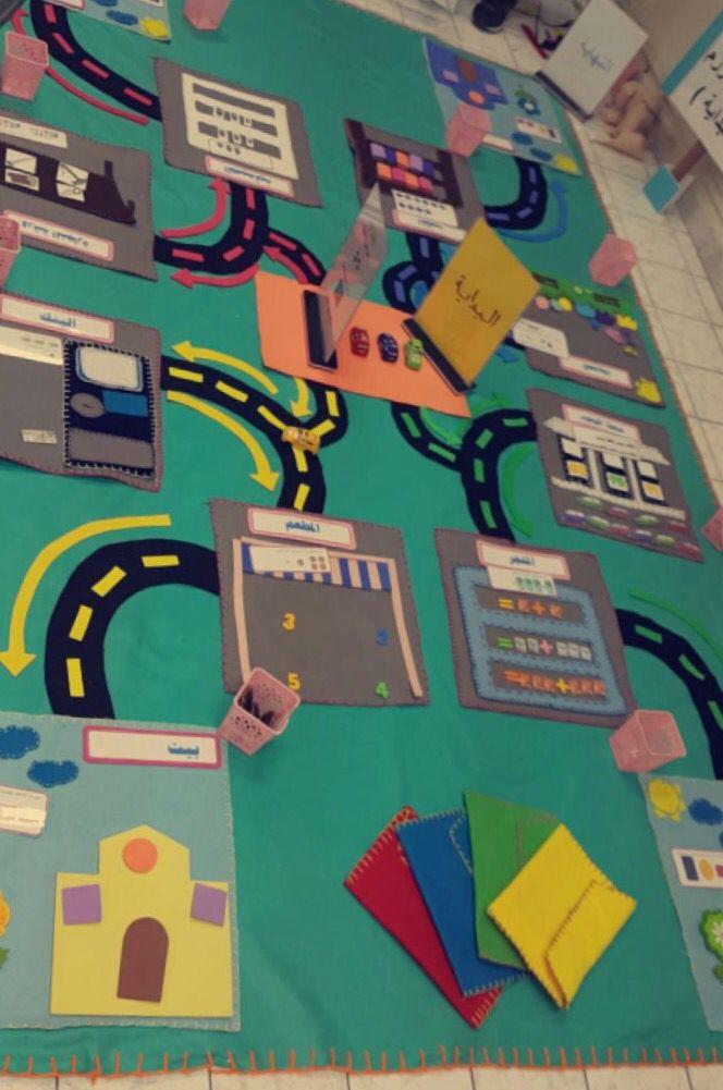 لعبة مدينة لغتي الخالدة عبارة عن مدينة فيها ٤ مسارات ملونة يلعب أربع أطفال في اللعبة كل طفل في مسار Activities For Kids Baby Education Crafts For Kids