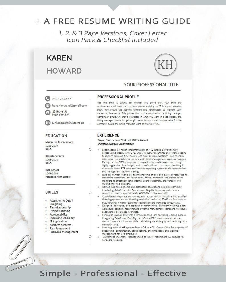 Public Relations Resume Template for MS Word Executive