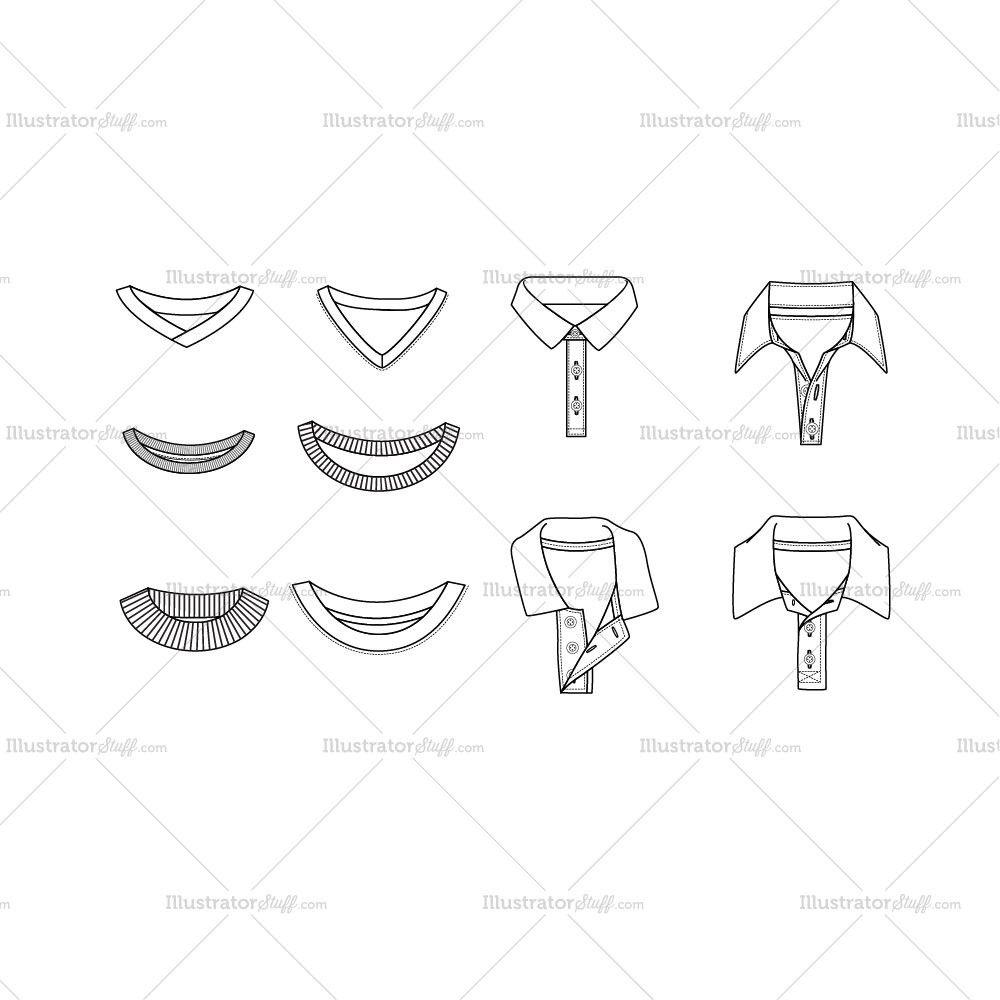 Boy\'s Collars Fashion Templates | Fashion templates, Fashion flats ...