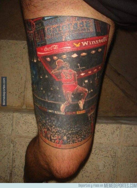 284938 Hay Tatuajes Currados Luego Está éste De Michael Jordan
