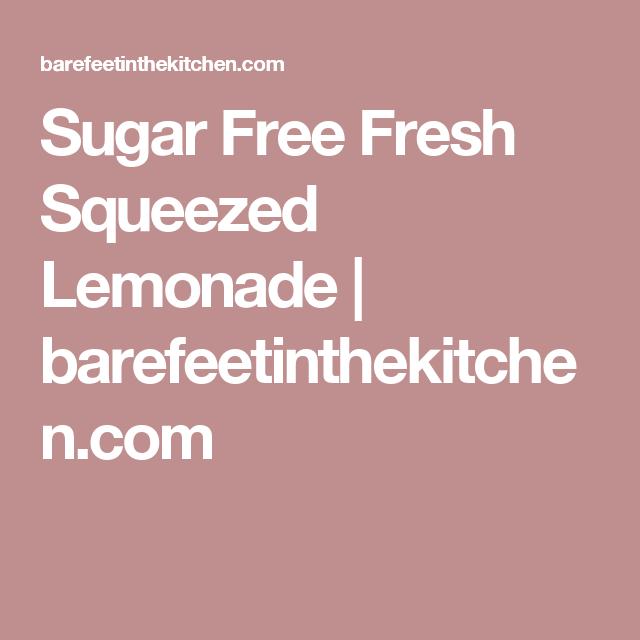 Sugar Free Fresh Squeezed Lemonade | barefeetinthekitchen.com
