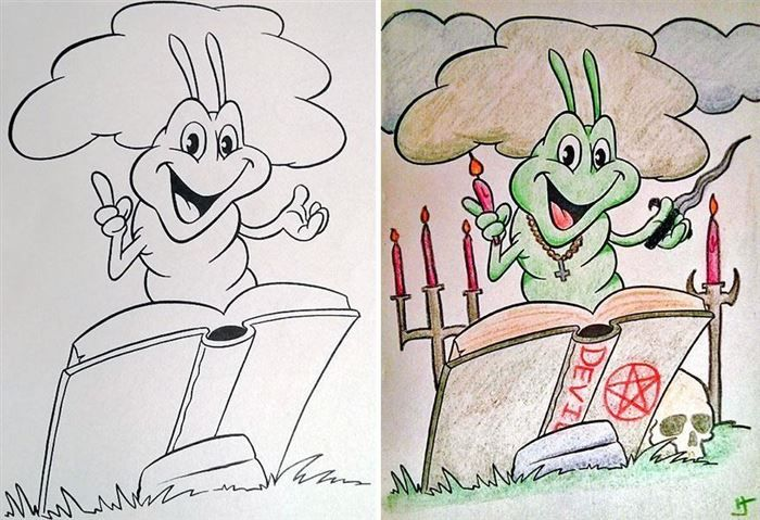 12 Disturbing Coloring Book Corruptions 40