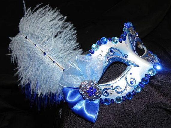 Venetian Masquerade Mask in Royal Blue and by TheCraftyChemist07, $60.00