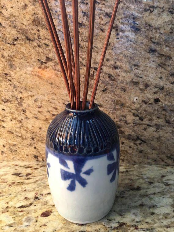 Oil Diffuser Small Vase Reed Diffuser Multi Use Vessel Pottery