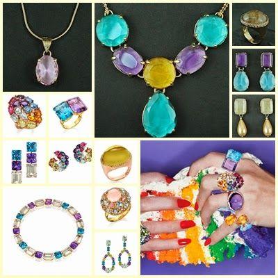 CKD PEDRAS E FOLHEADOS: Anéis, colares e brincos com cristais lapidados em...