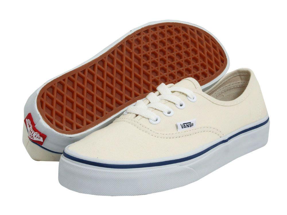 Vans Authentic White & Blue Canvas Men ALL SIZES Shoes Sneakers