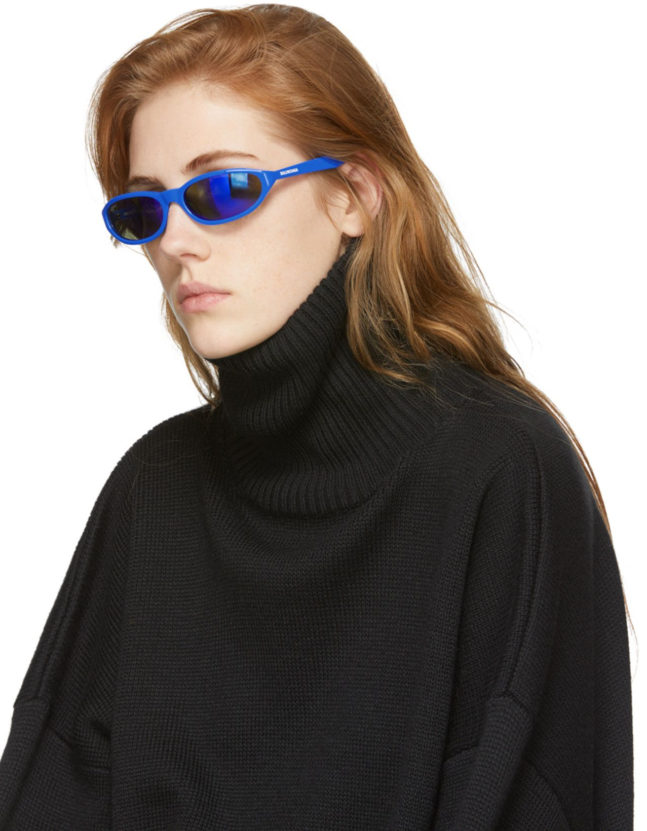 bbd70397cc Balenciaga Blue Neo Sunglasses in 2019
