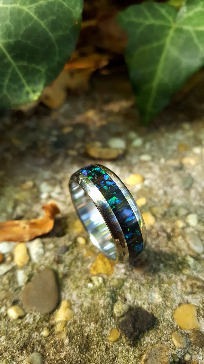 Wedding Ring, Promise Ring, Stainless Steel Ring with