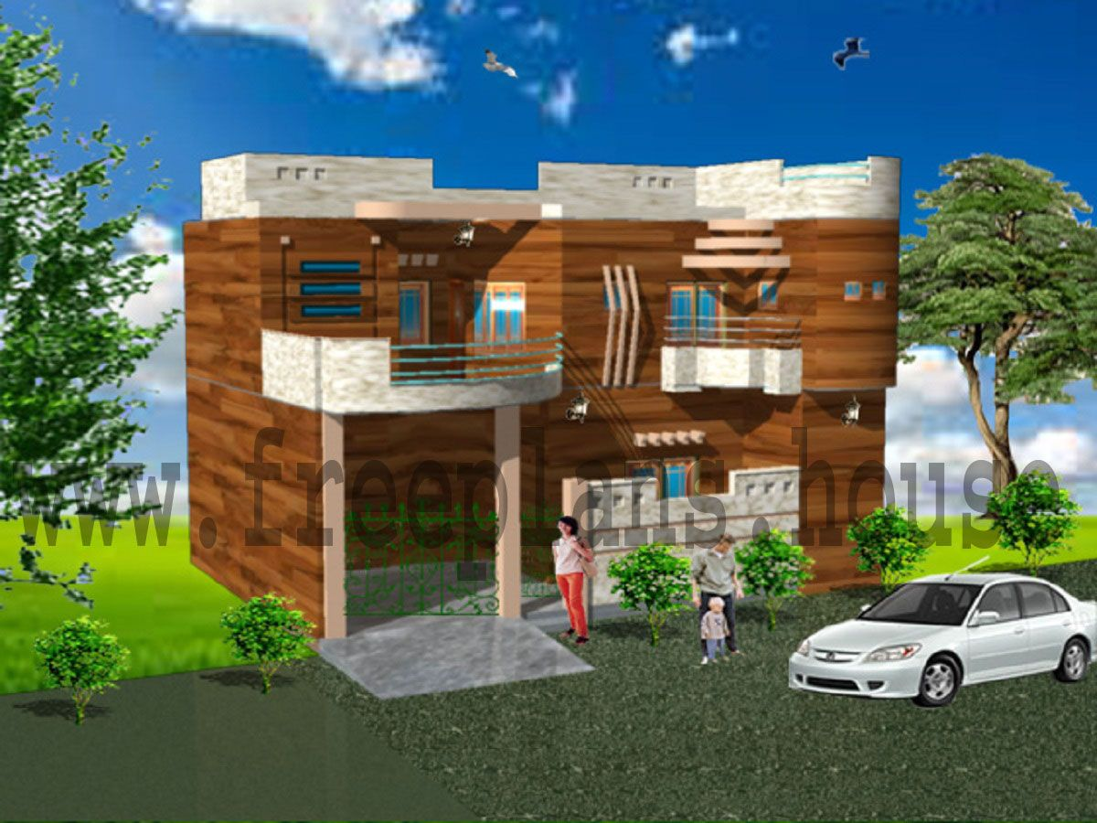 40x52 house front elevation