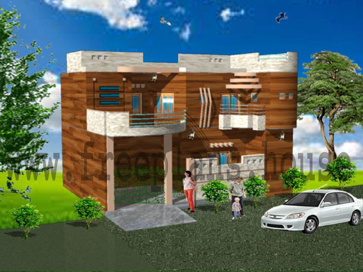 40x52 House Front Elevation House plans Pinterest