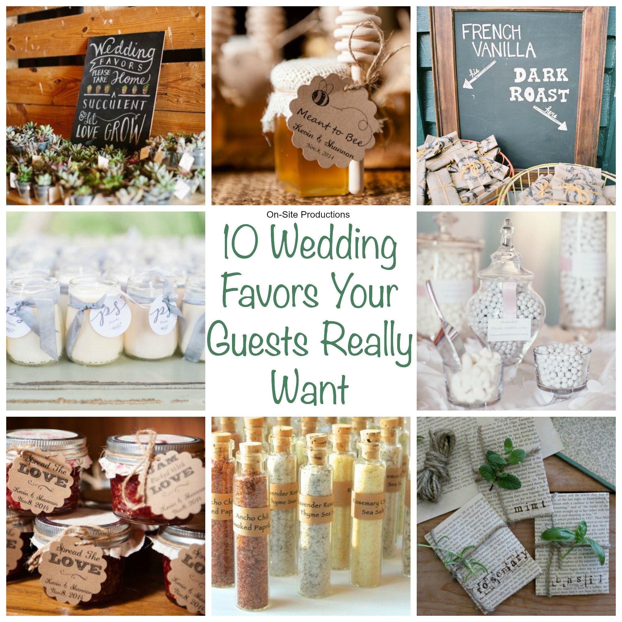 Wedding favors are a nice way to thank your guests for coming to ...