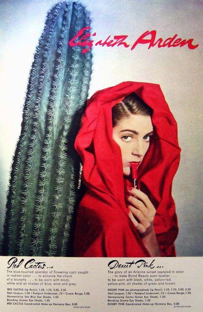 CARMEN DELL'OREFICE  Elizabeth Arden Ad  1948