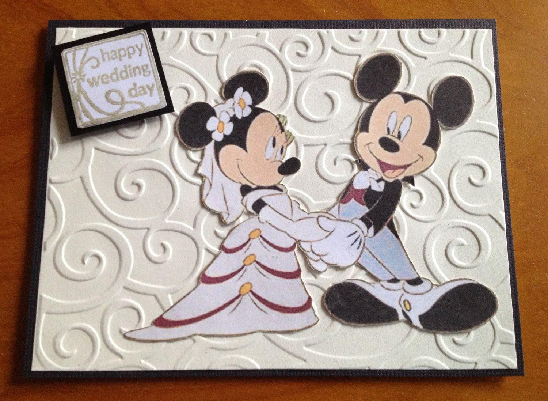 Disney Themed Wedding Card Disney Wedding Theme Wedding Cards Handmade Wedding Cards