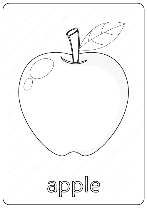 Printable Cute Apple Coloring Pages Pdf Apple Coloring Pages Coloring Pages Drawing Apple