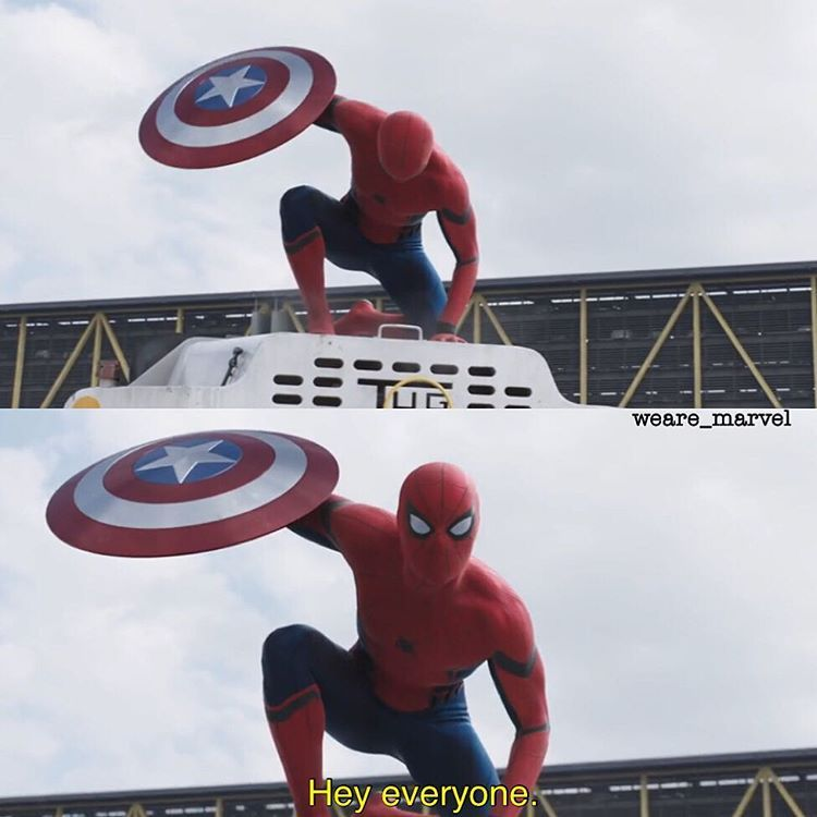Captain America: Civil War: Spiderman I literally screamed when I saw this I'm not even joking!! ~VG