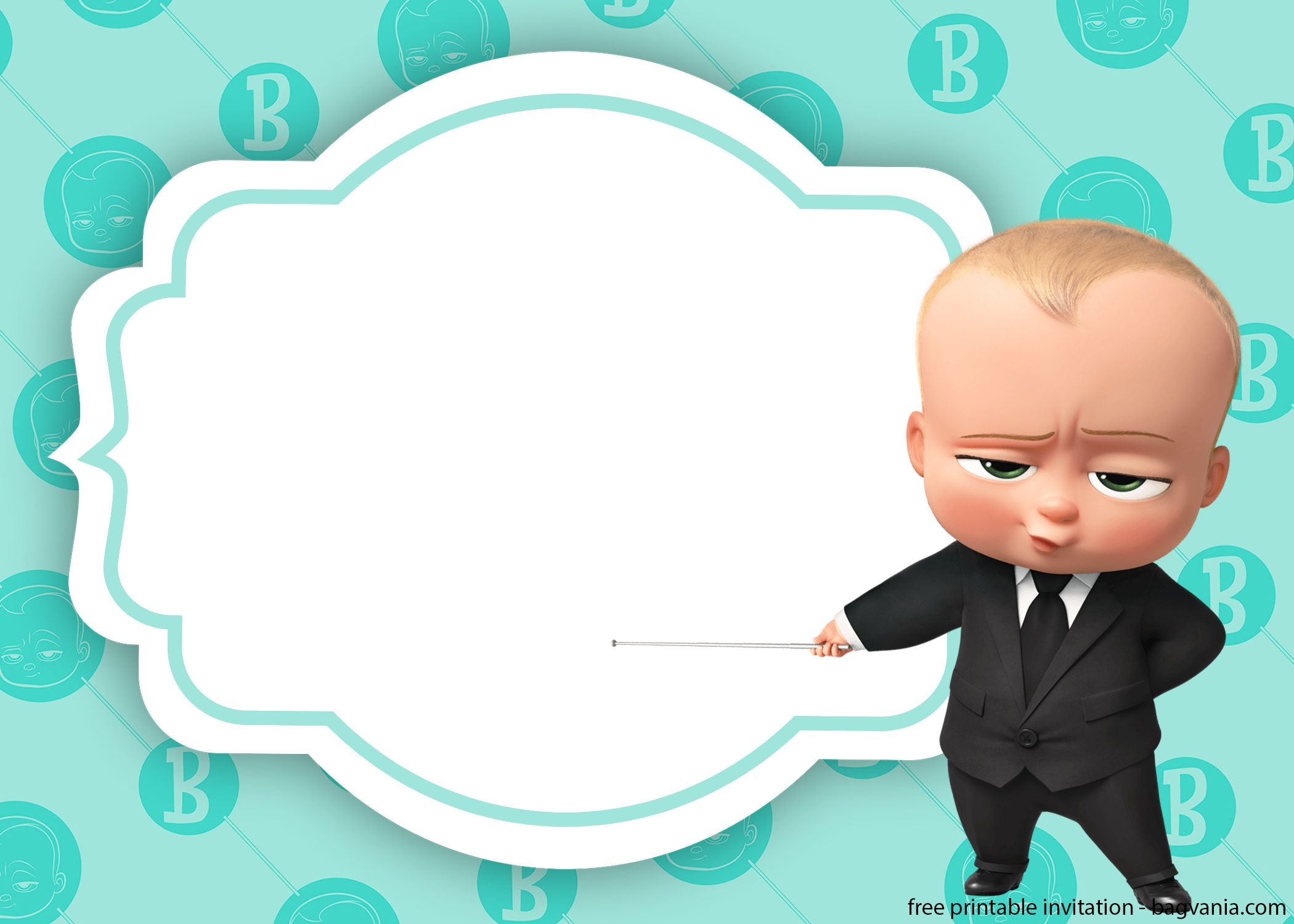 Baby Boss Invitation Template For Your Adorable Little Boss Baby Birthday Invitations Boy Birthday Invitations Baby Boy Invitations