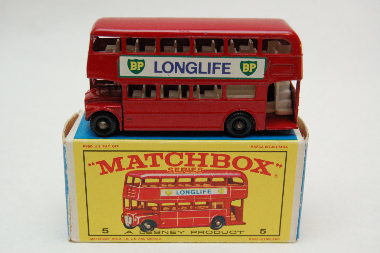 Matchbox Lesney 5 London Bus BP Longlife with Original