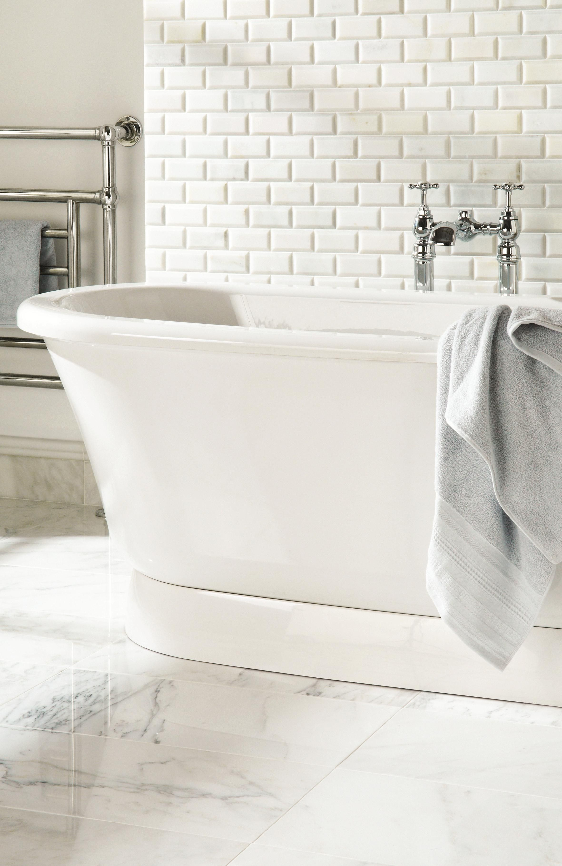 Original Style - Earthworks - Viano white mixed marble | bathrooms ...