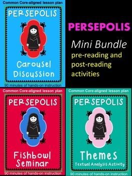 Persepolis Activity Mini Bundle Post Reading Activities Chinese Lessons Activities