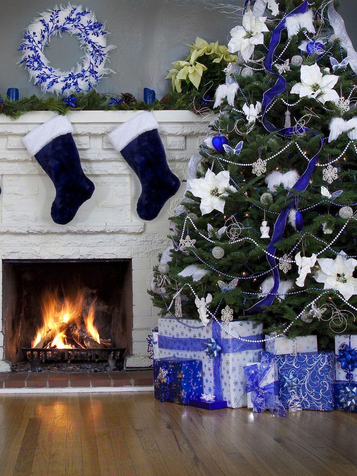 Blue Christmas Printed Backdrop 9444