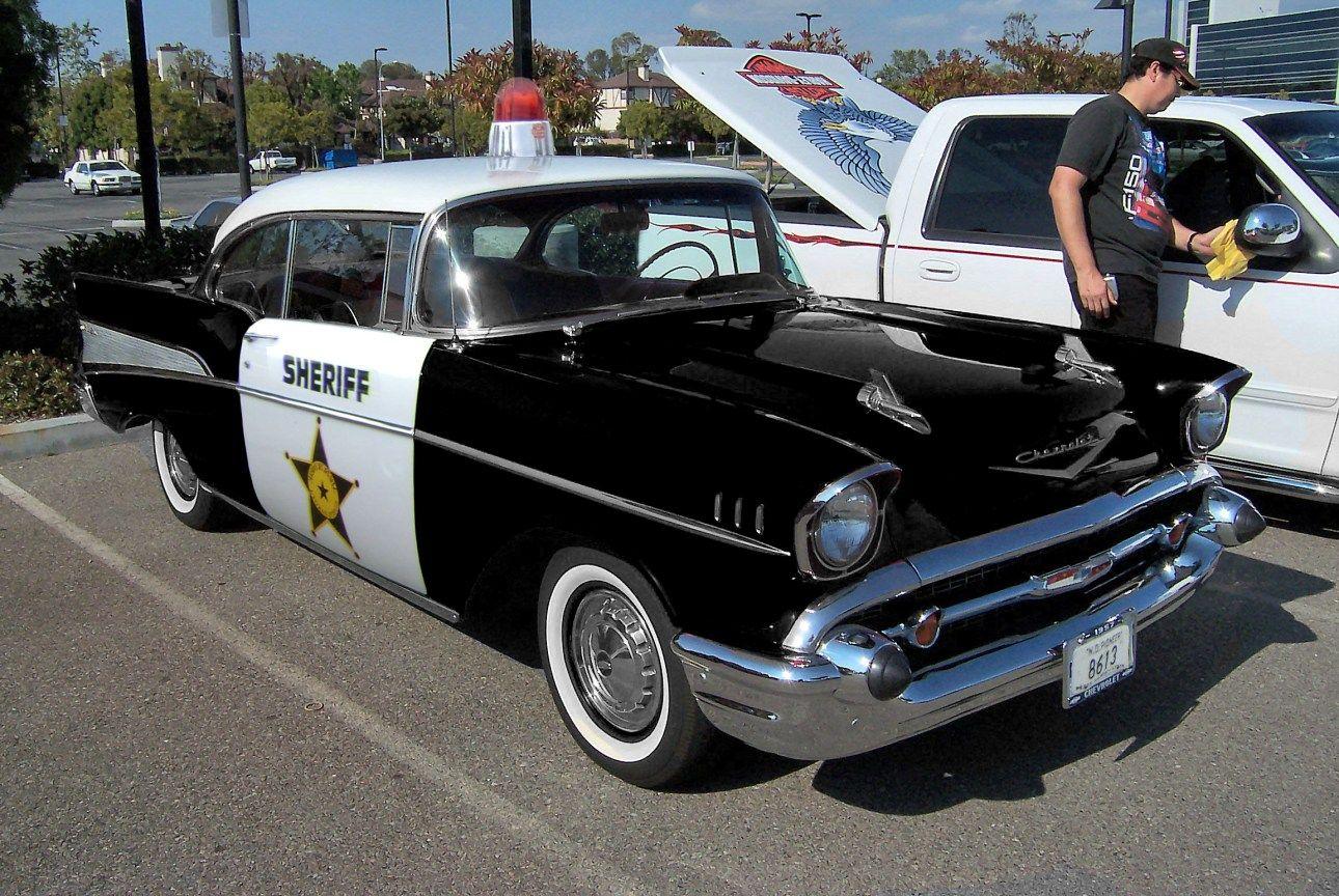 1957 chevrolet bel air sheriff patrol car etats unis d am rique