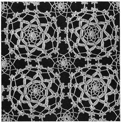 Maker of Dreams Crochet Bedspread Pattern #687 swatch | Crochet Lace ...