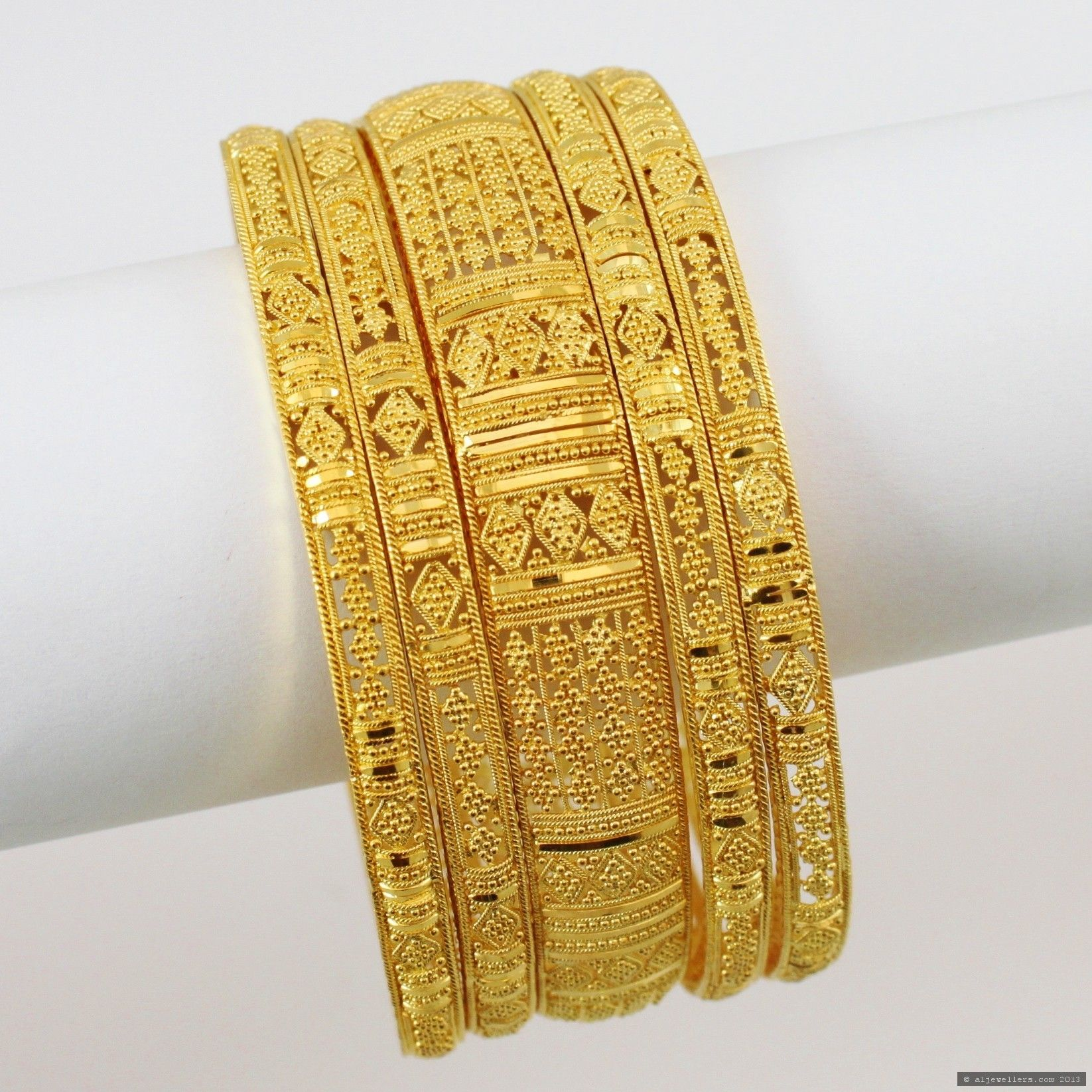 Gold Bangles From India 22ct Indian Gold Bangles Set 361335
