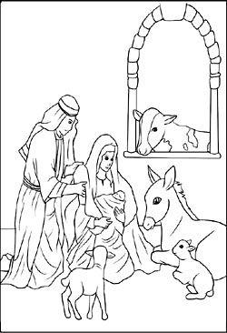 Ausmalbild Weihnachten Krippe - tiffanylovesbooks