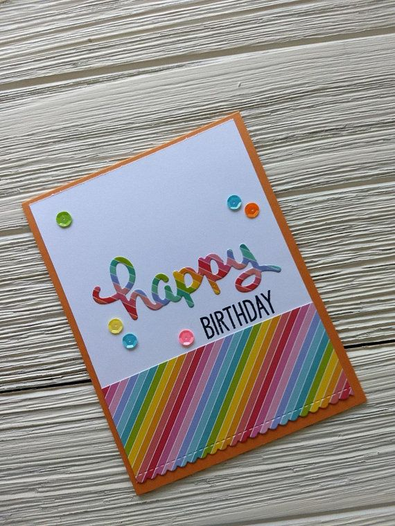 Rainbow Birthday Card Cards Happy Fun