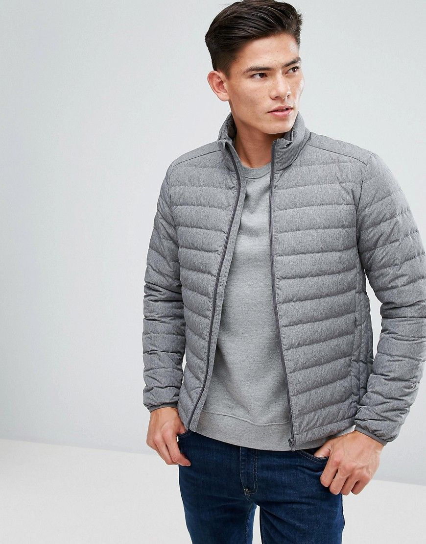 Get This Esprit S Quilted Jacket Now Click For More Details Worldwide Shipping Esprit Quilted Jacket In Real Down Grey Jacket By Esprit Textured Outer P [ 1110 x 870 Pixel ]