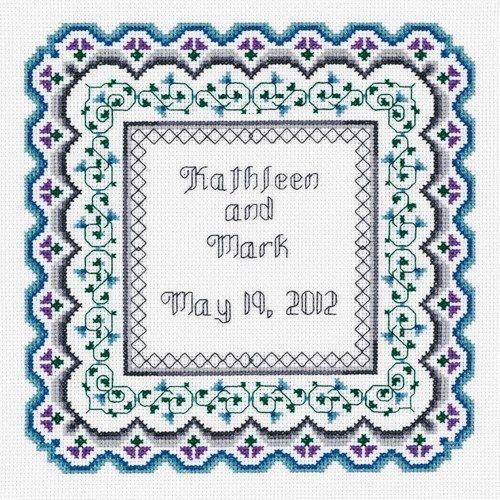 HS Counted Cross Stitch Sampler Kit Wedding Patchwork Sampler