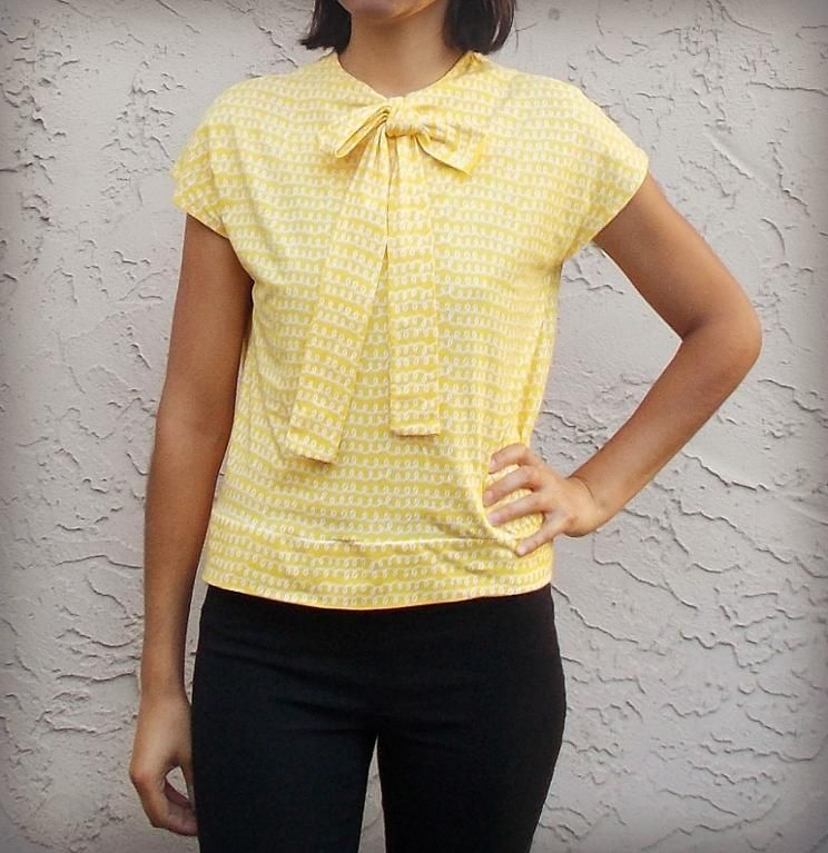The Necktie Top Pattern - On the Cutting Floor: Printable pdf sewing ...