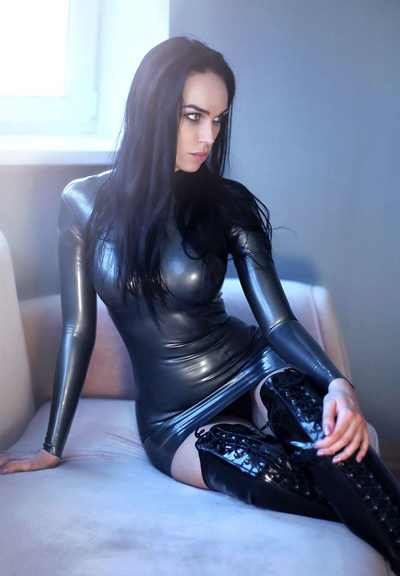 naked women in latex dress