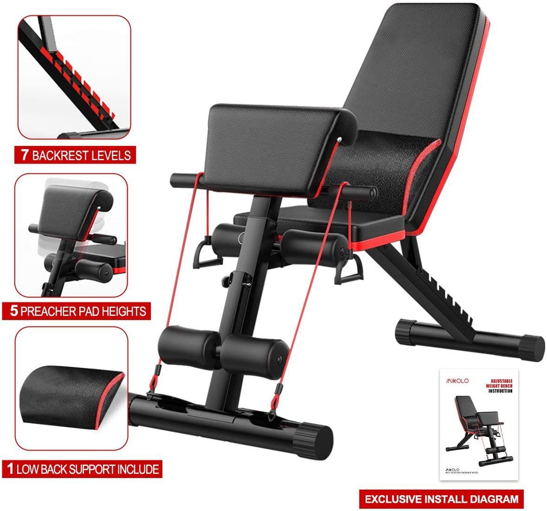 Skboy Adjustable Weight Bench In 2020 Adjustable Weight Bench Weight Benches Gym Accessories