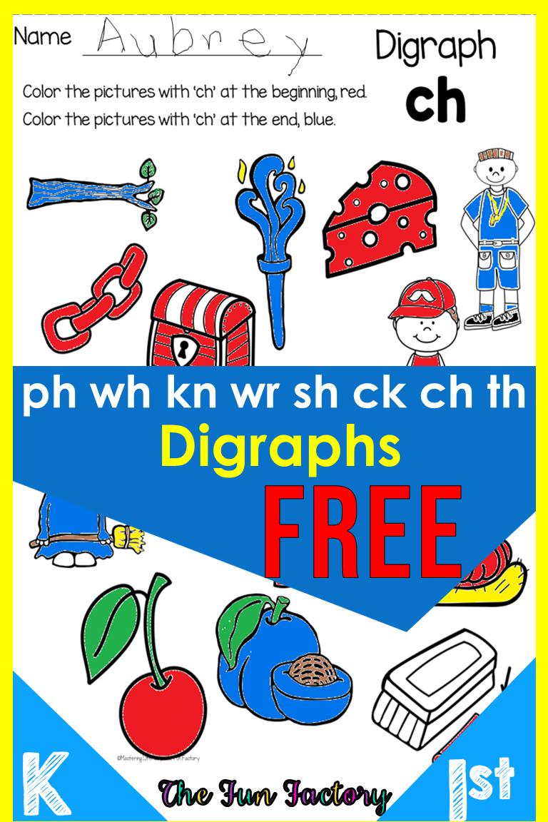 Digraph Worksheets Free Phonics No Prep Phonics Free Digraphs Worksheets Digraph [ 1152 x 768 Pixel ]