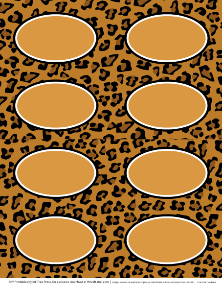 Animal print labels for download free