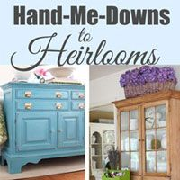 Charmant See How To Turn A Hand Me Down Into A Treasured Heirloom With Paint And  Your Own Style | In My Own Style