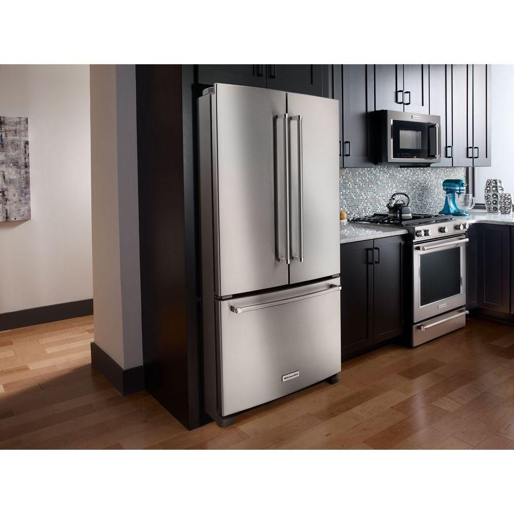 Counter depth refrigerators home depot - French Door Refrigerator In Stainless Steel Counter Depth