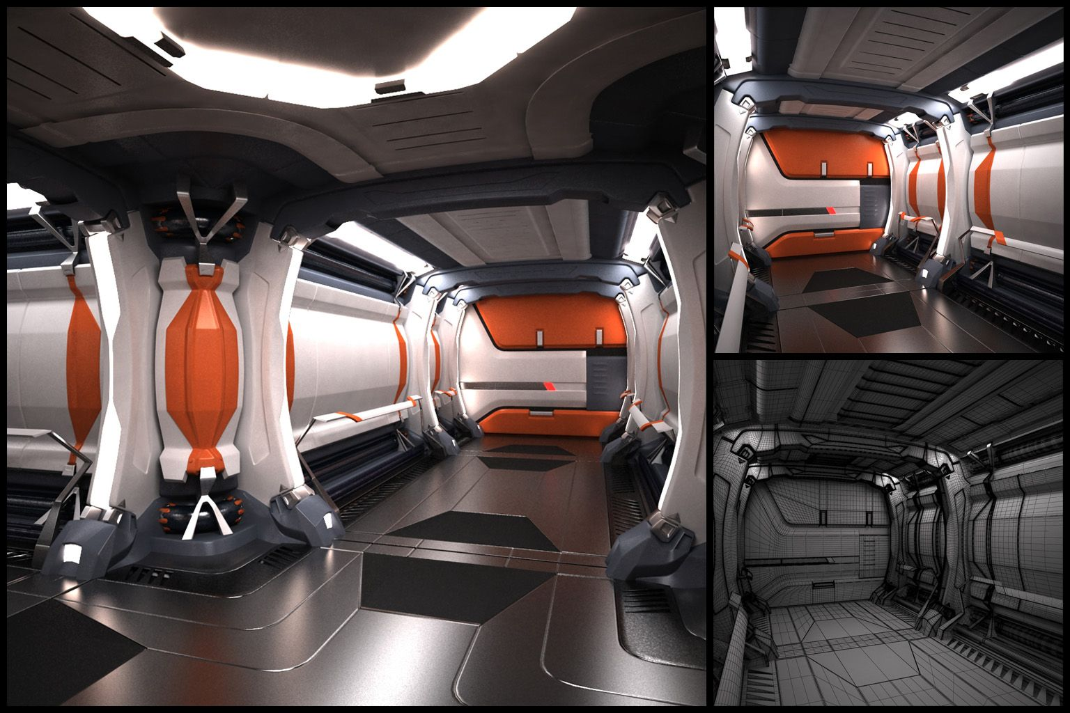 Scifi Hallway Corridor Interior Design