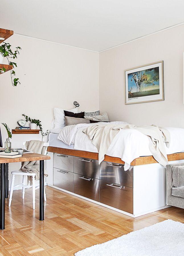 comment pallier le manque de rangement dans un studio. Black Bedroom Furniture Sets. Home Design Ideas
