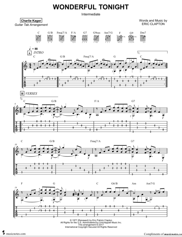 FREE TAB PREVIEWS Fingerstyle Guitar Sheet Music Tabs ...