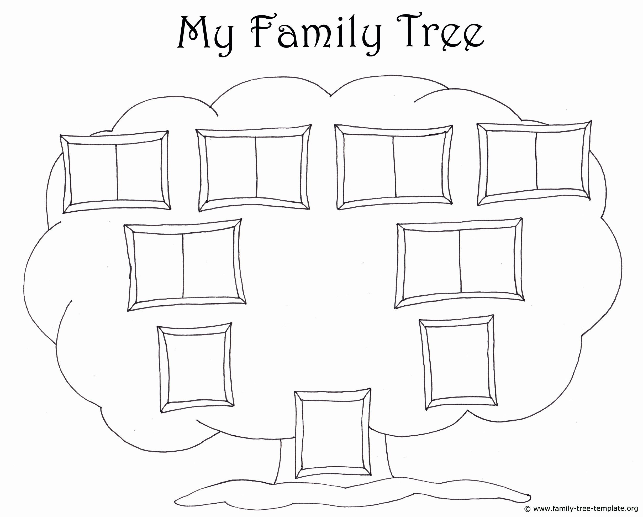 Picture Of Family Tree Chart Awesome Family Tree Template