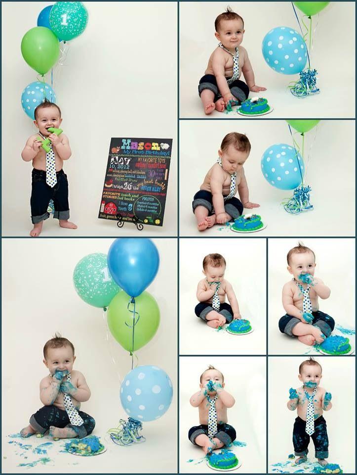 Cake smash first birthday baby boy birthday party one
